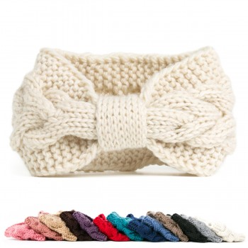 Women's Bow Knitted Head Wrap
