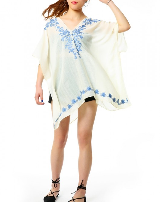 Women's Floral Beach Cover-Up