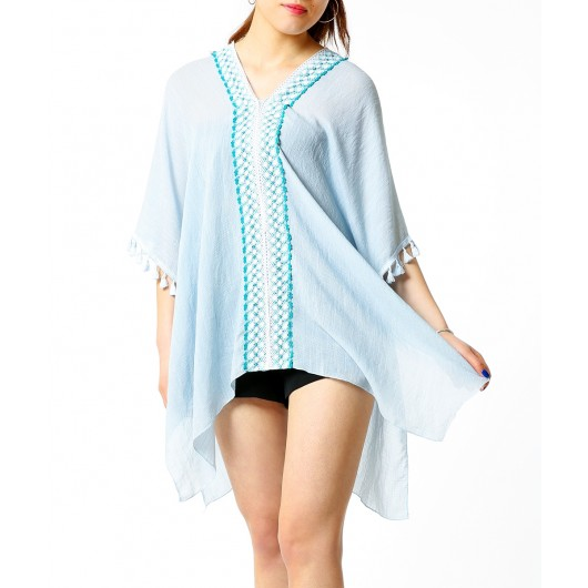 Women's Tassel Sleeve Cover-Up