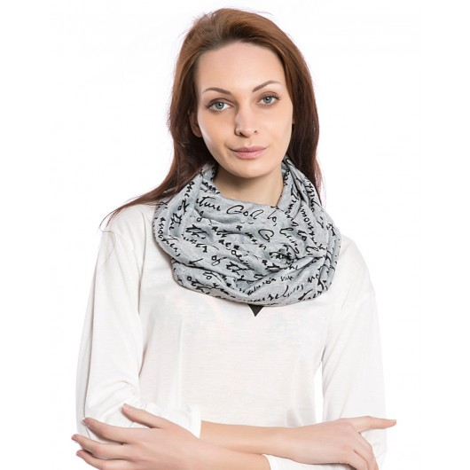 Women's Fashion Letter Print Scarf